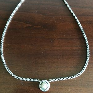 COPY - David Yurman two tone pave diamond necklace